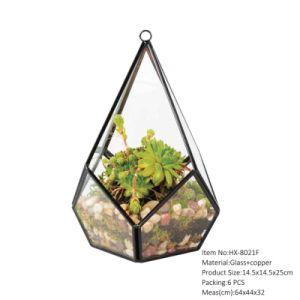 China Handmade Glass Globe Hanging Terrarium Ornaments Design