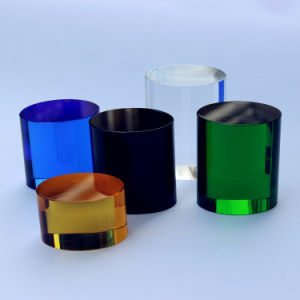 Delicate K9 Crystal Circular Cylinder, Crystal Column, Crystal Pillar pictures & photos