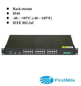 24 Ports Gigabit Fiber Industrial Poe Switch pictures & photos