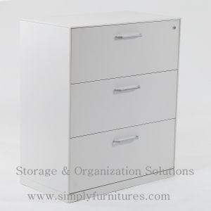 Three-Drawers Metal Lateral Office Cabinet (SI6-LCF3GB) pictures & photos