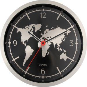 Fashion World Map Modern Style Wall Metal Clock Art Acrylic Decoration Wall  Clock