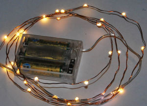 China Battery Operated Led Copper Wire Light Ultra Thin Fairy String Lights Mini