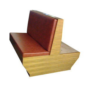 Leather Double Seater Restaurant Booth (9056) pictures & photos