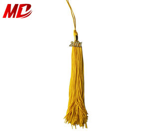 Graduation Tassel with Gold Year-Charm to Cap
