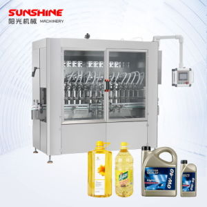 Automatic Linear Piston Pressured Water Liquid Plastic Bottle Edible Lube Oil Beverage Filling Capping Labeling Bottling Machine Line for Packing Machine