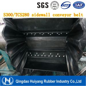 Large Incline Angle Conveying Sidewall Conveyor Belt