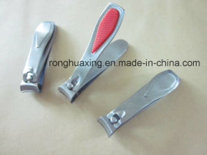 Stainless Steel Toe Nail Clipper with Silicon Handle Soft-Touch Snb-555 pictures & photos