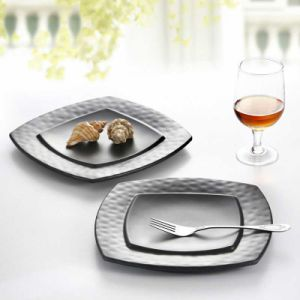 Korean Melamine Black Square Plates & China Korean Melamine Black Square Plates - China Melamine Plates ...