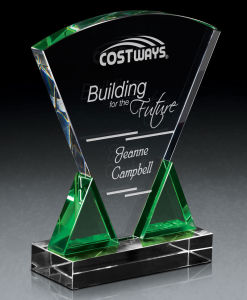 Plaque Design Crystal Glass Award Trophy For Corporate Gift