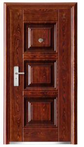 New Panel Design Walnut Colour Steel Security Door & China New Panel Design Walnut Colour Steel Security Door - China ...