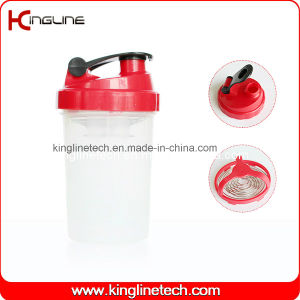 500ml Plastic Protein Shaker Bottle with Stainless Blender (KL-7006) pictures & photos