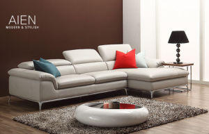 MID Thick Leather Corner Sofa (1310)
