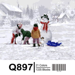 Christmas Decoration Painting by Numbers, Snowman pictures & photos
