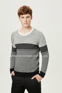 Striped Round Neck Knit Men Sweater pictures & photos