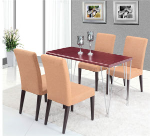 Modern 4 Seater Restaurant Dining Table Set for Hotel (FOH-BCA28) pictures & photos