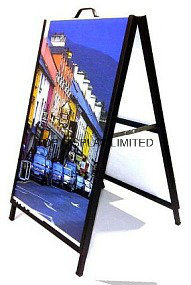 "Factory Wholesale Corflute Insertable Snap a Frame Sandwich Boards Portable Sidewalk Sign Advertising Euipment Portable 24""X36"" Display Stand pictures & photos"