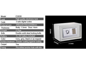 Digital Safe with Electronic Lock pictures & photos