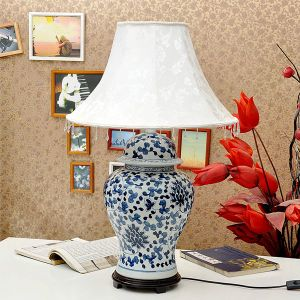 Hand Painted Blue White Porcelain Table Lamp