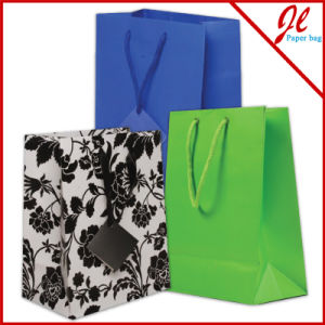 White / Kraft Versa Recycled Handle Grocery Bag pictures & photos