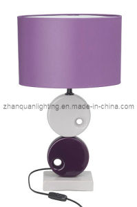 Purple Lamp Shade with Ceramic Body Reading Lamp (T152)