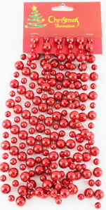 Christmas Decoration Bead Chain for Red