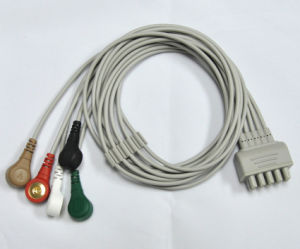 Ge 5 Leads ECG Cable Snap Aha, 5 Leadwires Clip pictures & photos