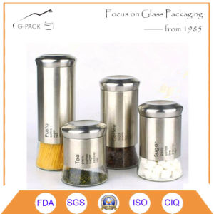 Lead Free Glass Storage Jars with Logo Printing pictures & photos