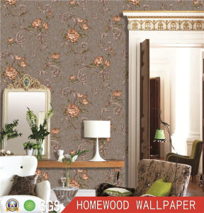 2017 Latest Design Deep Embossed Vinyl Wall Paper