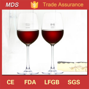 High Quality Crystal Wedding Hand-Painted Red Wine Glass pictures & photos