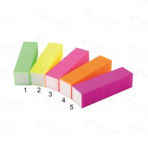 China Nail Art Candy Color Sponge Files Block Tips Edge Acrylic Nail ...