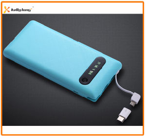 Super Slim 10000mAh Built in Cable Mobile Power Bank