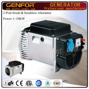 3kVA Alterantor with Brush AVR Battery Charge, Electric, Stable Voltage