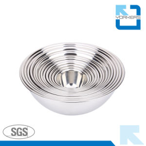Multi-Size Stainless Steel Salad Bowl / Mixing Bowl pictures & photos
