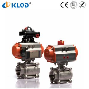 Pneumatic Actuator Full Bore 3PCS CF8m Stainless Steel Ball Valve pictures & photos