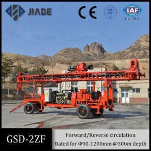 Gdd-2zf Mechanical Trailer Mounted Portable Drilling Rig