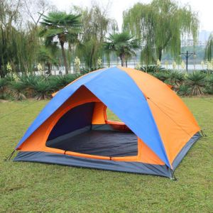 Camping Tent with Half Cover to Vent