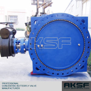 Large Size Dn40-Dn2200 Flange Cast Iron Epoxy Coated Butterfly Valve in  Tianjin Manufacture