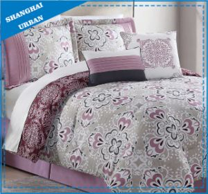 Light Purple Design Printed Cotton Duvet Cover Bedding pictures & photos