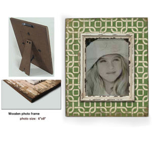 Wood Photo Frame - Green Color