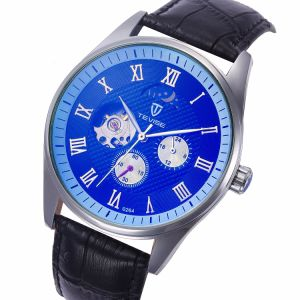 Tevise Mens Clock Leather Business Watches Automatic Mechanical Men Skeleton Clocks Casual Waterproof Wristwatch Brand Watch pictures & photos