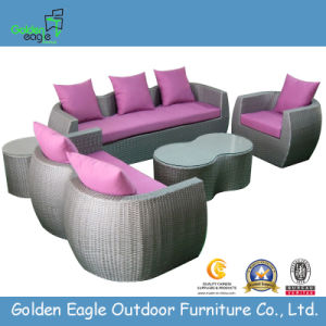 Outdoor Furniture Hotel Wicker Garden Sofa (S0132)