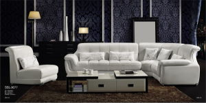 Middle East Style Leather Top Sofa