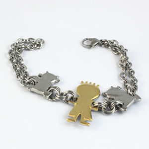 Stainless Steel High Quality Bear Charms Chain Bracelet pictures & photos