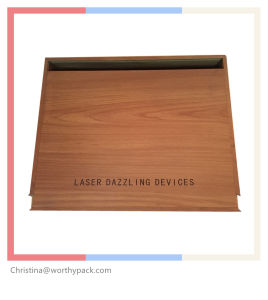 Wooden Packaging Box for Laser Dazzling Devices with Slid Lid