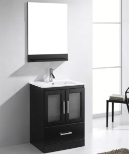 Solid Oak Wood Floor Mounted Single Basin Bathroom Vanity Cabinet