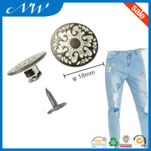 Fashion Brass Metal Shank Buttons Jeans Button