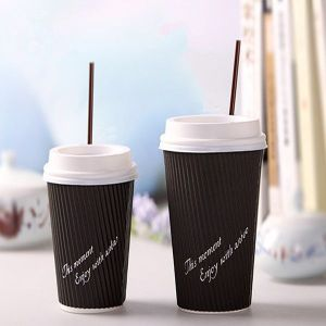 Disposable Paper Cups for Hot Coffee with Logo Printed