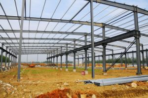Prefabricated Cattle Shed, High Steel Structure Warehouse Construction with Best Drawing pictures & photos
