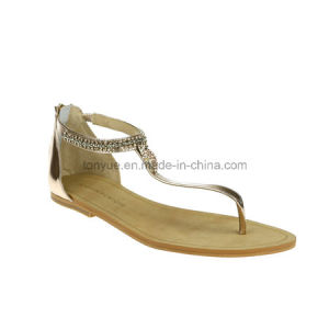 7ed3d45e6eb3 China Lady Leather Leisure with Flat Sandals Flip Toe Women Sandals ...