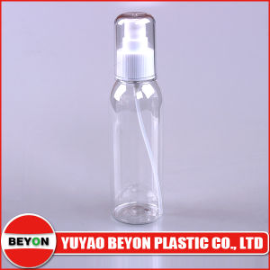 Empty 130ml Round Clear Plastic Pet Cosmetic Bottle